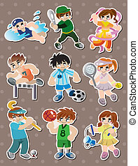 sport player stickers