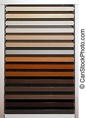 Wood samples - Board with wooden samples used for home...
