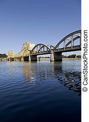 Rural Raising Cantilever Bridge - Rural yellow, raising...