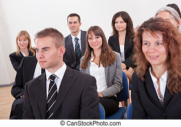 Portrait Of A Business Men And Women In Seminar - Portrait...