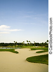 Golf Course Sand Trap - A shot of a golf course sand trap...
