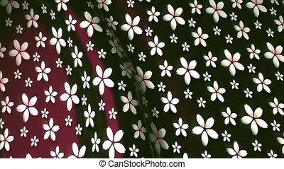 Waving pattern Sakura - Waving pattern for background,...