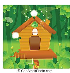 Tree House - This illustration is a common natural...