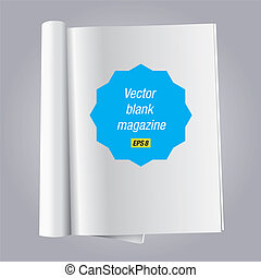 blank magazine - vector illustration blank one open page...