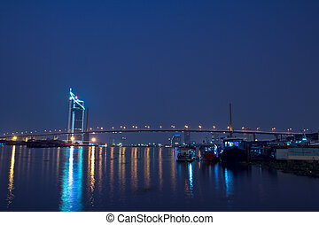 Rama 9 Bridge in bangkok thailand