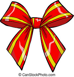 Gift bow on white background vector illustration