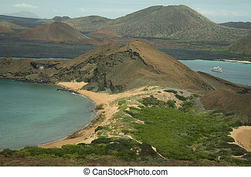 Island formation in Galapagos Islands, Ecuador