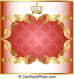 rose background for invitation gold pattern and crown