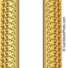 background frame for invitation gold pattern
