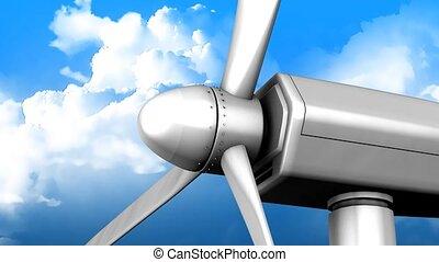 Windturbine close up