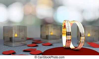 Wedding rings - Wedding theme animation, rings