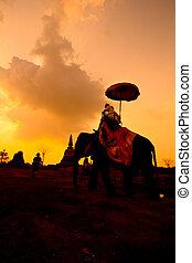 Sunset rural Thailand.