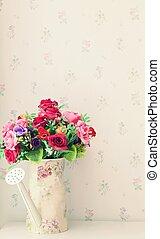 %u0E34bouquet of flowers in living room
