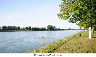 rhine at the German French border