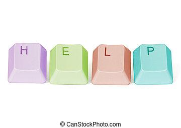 computadora, teclado, llaves, ortografía, ayuda