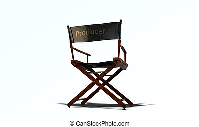 director chair isolated on white background