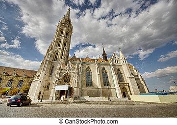 Matthias Church - wide view of Matthias Church in Budapest,...