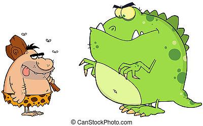 Cavernícola, y, Dinosaurio