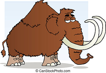 Mammoth Cartoon Mascot Character - Brown Mammoth Cartoon...