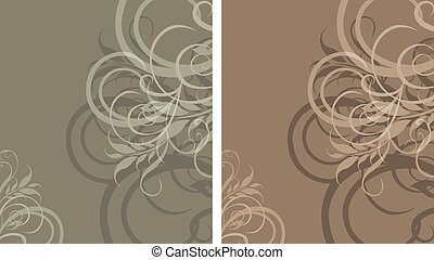 Two ornamental stylish backgrounds