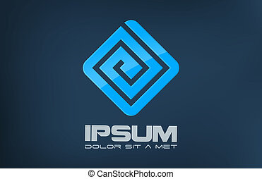 Logo company abstract. - Business symbol. Puzzle labirinth...
