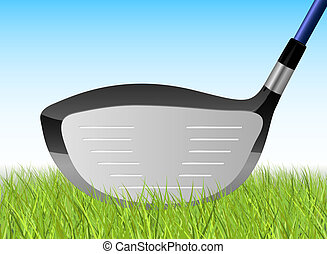 Golf Driver Illustration