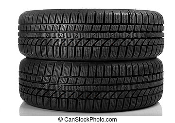 Tyres over white background - Tyres over pure white...