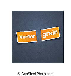 Grain texture with paper label.