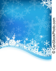 vector winter background - an abstract vector winter...