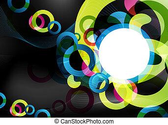 dark colorful design