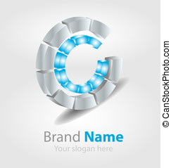 Brand logo blue - Originally designed vector brand logo
