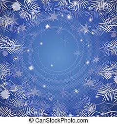 Christmass background - Abstract blue background for holiday...
