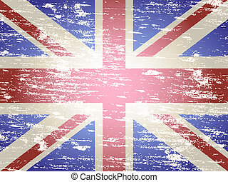 Faded Union Jack - Grungy faded and distressed Union Jack...