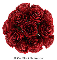 Vase of deep burgundy red roses - Vase of romantic deep...