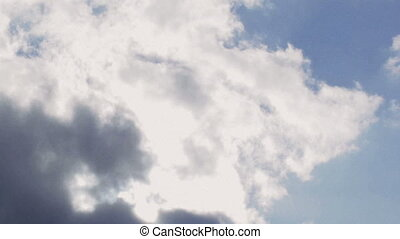 Clouds time lapse. - Bright clouds time lapse. Color...