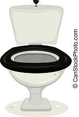 cartoon toilets - Illustration of a cartoon open water...