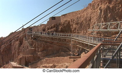 masada cableway - cableway on Mount Masada - ancient...