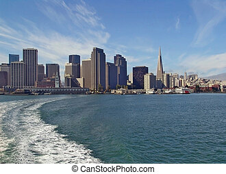 San Francisco skyline from sea - San Francisco view from the...