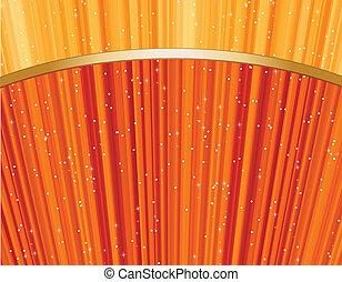 Magic stars on golden rays . Vector