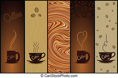 Set of coffee banners Vector illustration - Set of coffee...