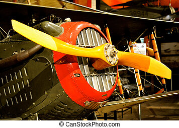 Historic plane in museum - close up