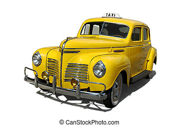 Taxi - Vintage yellow taxi cab