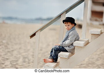 boy on the stairs