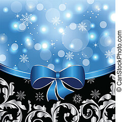 Christmas floral packing, ornamental design elements