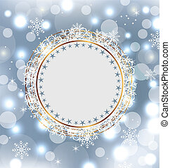 Christmas holiday background with greeting card -...