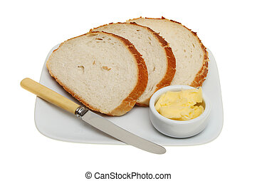 Bread on a plate