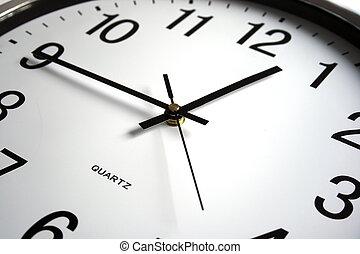 face of clock macro photo