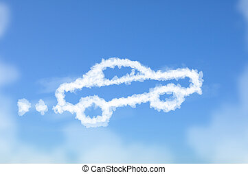 Car dreaming cloud - Cloud shaped as car ,dream concept