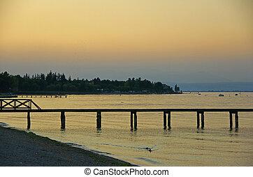 Evening atmosphere at Lake Garda Italy - Evening atmosphere...