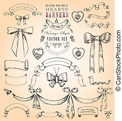 Vintage Hearts, Banners and Bows - Build-your-own elegant...